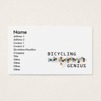 Genio que monta en bicicleta tarjeta de visita