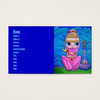 Genios rosados y su botella mágica tarjeta de visita