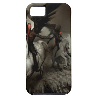 Gente abstracta del caballo del ángel iPhone 5 Case-Mate carcasas