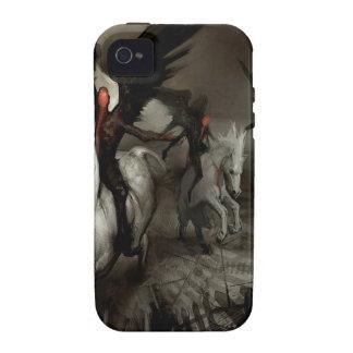 Gente abstracta del caballo del ángel vibe iPhone 4 fundas