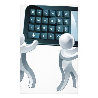 Gente de plata de la calculadora papeleria