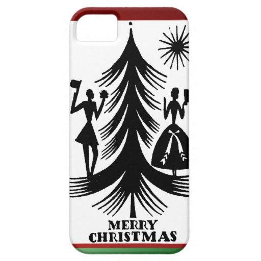Gente del árbol de navidad iPhone 5 protector