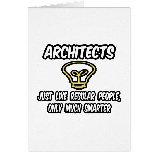 Gente regular de los arquitectos…, solamente más tarjeta de felicitación