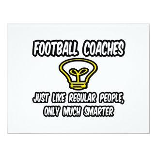 Gente regular de los entrenadores de fútbol…, invitación 10,8 x 13,9 cm