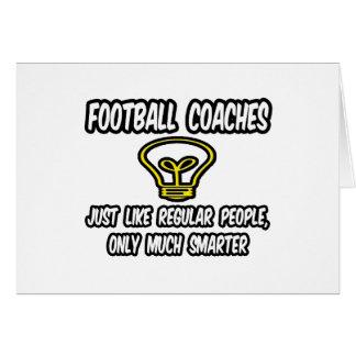 Gente regular de los entrenadores de fútbol…, sola tarjeton