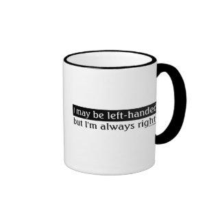 Gente zurda tazas