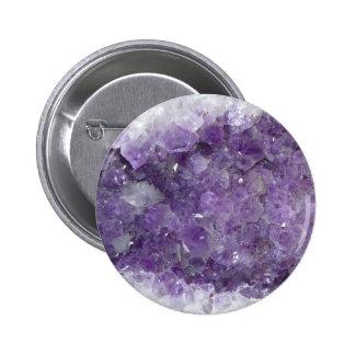 Geode Amethyst - piedra preciosa cristalina violet Chapa Redonda De 5 Cm