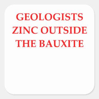 geología pegatina cuadrada
