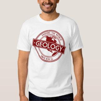 Geología que forma el logotipo del mundo camisas