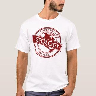 Geología que forma el logotipo del mundo camiseta