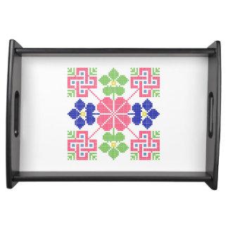 geom étnico tradicional del símbolo popular del bandejas
