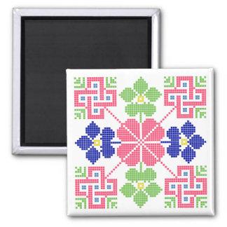geom étnico tradicional del símbolo popular del imán