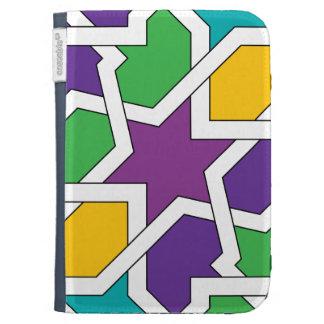 Geometría 11 de azulejo marroquí verde y morado