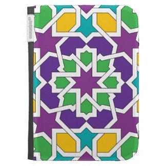 Geometría 11 del mosaico marroquí verde y violeta