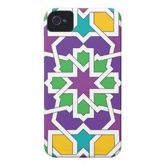 Geometría 11 del mosaico marroquí verde y violeta Case-Mate iPhone 4 protectores