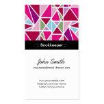 Geometría abstracta rosada de la contable tarjetas de visita