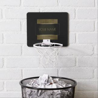 Geometría conocida mínima conceptual del oro negro miniaro de baloncesto