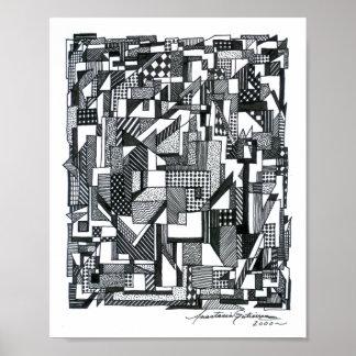 Geometría emergente póster