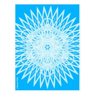 geometría sagrada del chakra brillante de la postal