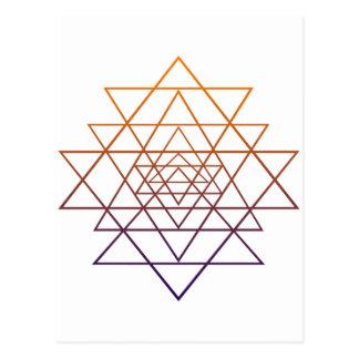 Geometría sagrada postal