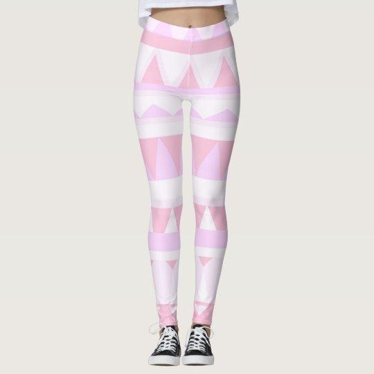 Geometric Pink Leggings