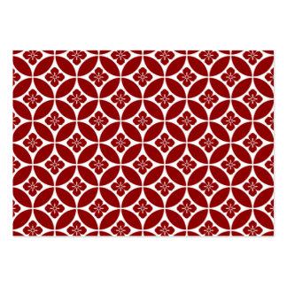 geometricas de los formas del padrão tarjetas de visita grandes