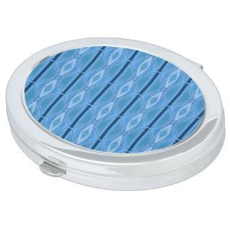 Geométrico azul elegante con la raya espejo para el bolso
