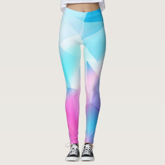 Geométrico azul leggings