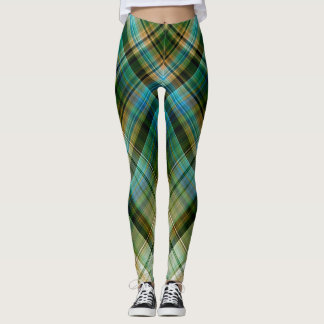 Geométrico azulverde leggings