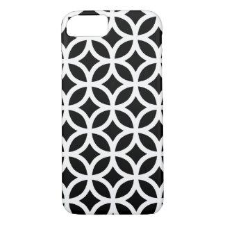 Geométrico blanco y negro funda iPhone 7