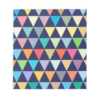 Geométrico colorido bloc de notas