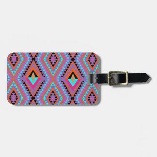 Geométrico colorido brillante moderno modelado etiqueta para maletas