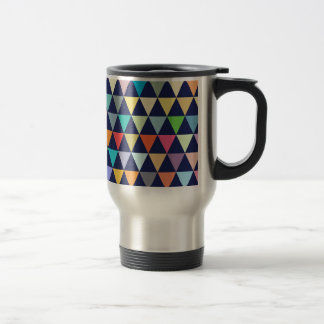 Geométrico colorido taza de viaje
