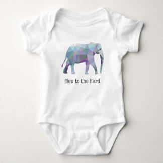 🐘 geométrico del elefante nuevo a la manada body para bebé