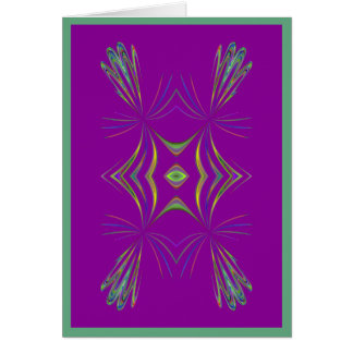 Geométrico delicado en tarjeta púrpura