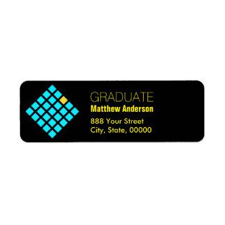 Geométrico - etiquetas del remite de la graduación etiquetas de remite