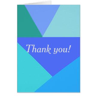 Geométrico gracias cardar tarjeta de felicitación