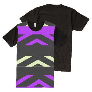 Geométrico por todo la camiseta de los hombres