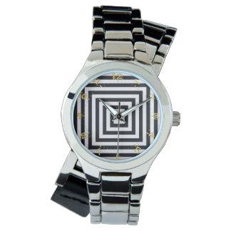 geometrico reloj de pulsera