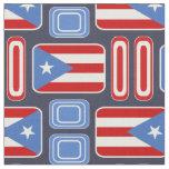 Geométrico: Retro: Puertorriqueño: Bandera Tela
