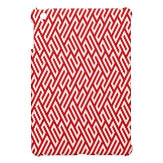 Geométricos rojo, blanco.Carcasa de movil