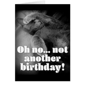 George la tarjeta de cumpleaños del gato