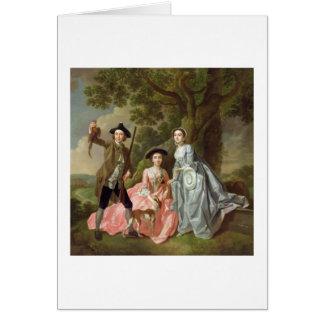 George Rogers con su esposa, Margaret, y su SIS Tarjeta De Felicitación