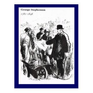 George Stephenson, ingeniero ferroviario Postal