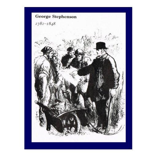 George Stephenson, ingeniero ferroviario Tarjeta Postal
