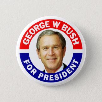George W Bush para el presidente Chapa Redonda De 5 Cm
