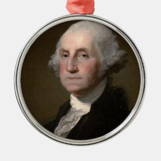 George Washington Adorno Navideño Redondo De Metal