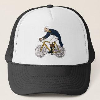 George Washington en la bici con las ruedas Gorra De Camionero