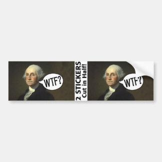 George Washington WTF - 2 pegatinas Pegatina Para Coche