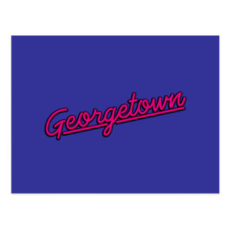 Georgetown en magenta postal